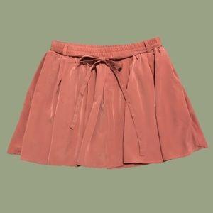 Forever 21 Dusty Rose Pink Skater Skirt/Skort